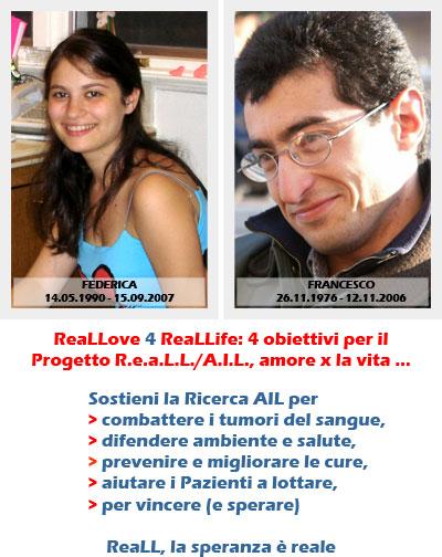 Sostieni ReaLL in memoriadi Federica e Francesco